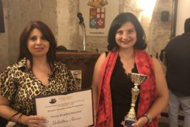 XIV Ed.Premio letterario città di Taranto: la scrittrice Valentina Nuccio si è aggiudicata il Premio Speciale della Presidenza