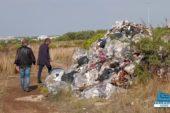 Cumulo di rifiuti speciali rinvenuto a ridosso della Circummarpiccolo a Taranto
