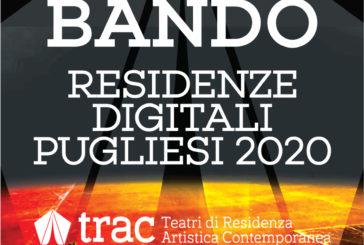 Bando per l'individuazione di n.5 residenze digitali per compagnie e artisti pugliesi
