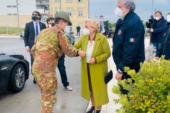Il Commissario per l'emergenza Figliuolo e il capo Protezione civile Curcio, in visita al Consiglio regionale della Puglia